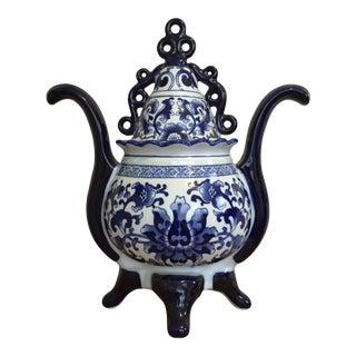 Bombay Blue & White Chinoiserie Ginger Jar