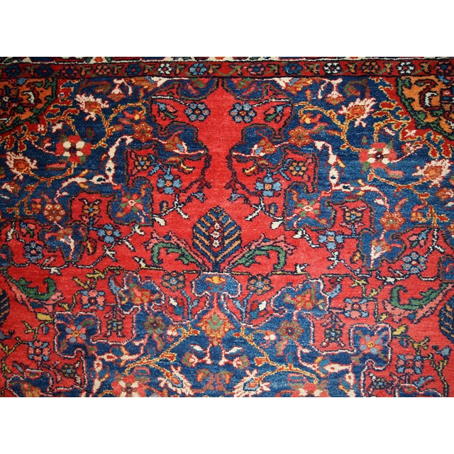 1970s Hand Made Vintage Persian Mashad Rug - 4′7″ × 6′4″ - Image 8 of 10