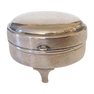 English Sterling Round Box