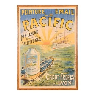Traditional Le Pacific Enamel Paint French Poster