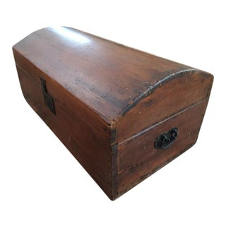 Small Antique Child's Blanket Chest Trunk