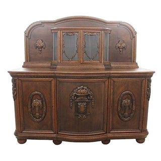 French Provincial Style Oak Server