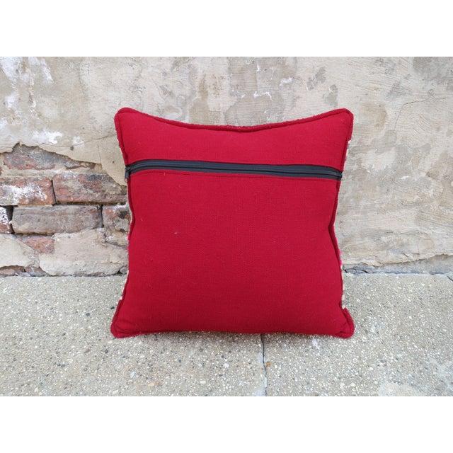 Pink & Green Peruvian Frazada Pillow - Image 3 of 3