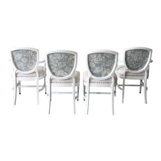 Scalamandre Upholstered Vintage Dining Chairs, Set of 4