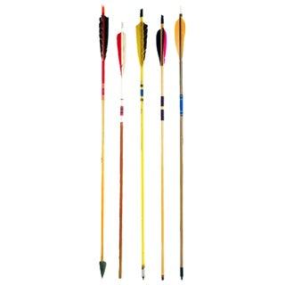 Vintage Colorful Wood Arrows - Set of 5