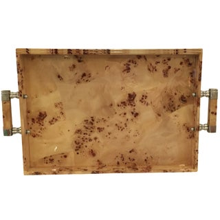 Faux Bois Laquered Tray