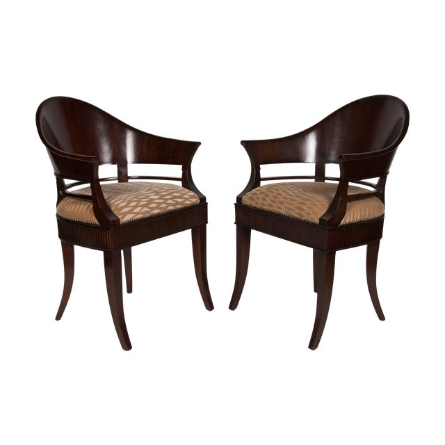 Solid Mazzard James Jennings Chairs - Pair of 2 - Image 1 of 5