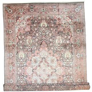 RugsinDallas Vintage Hand Knotted Silk Kashmir Rug- 13′9″ × 22′6″