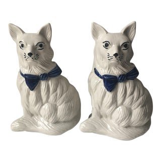 1940's Staffordshire Dog Figurines - a Pair