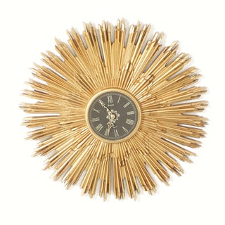 Mid Century Modern Burwood Starburst Clock