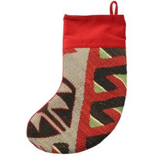 Rug & Relic Bright Kilim Christmas Stocking