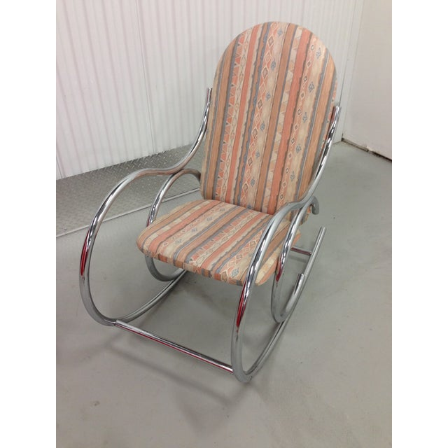 Mid Century Modern Chrome Rocking Chair - Image 5 of 7