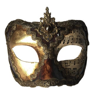 Vintage Venetian Paper Mache Mask-Carnivale
