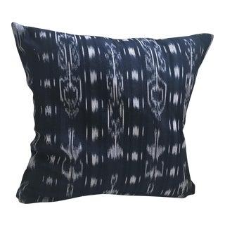 """Guatemalan Indigo Ikat Pillow- 16"""" x 16"""""""