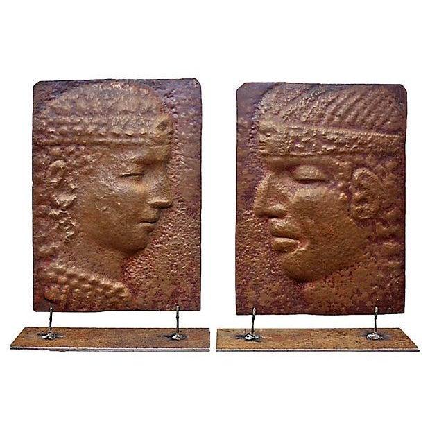 Reliefs - Peruvian Copper Sillhouttes a Pair - Image 1 of 2