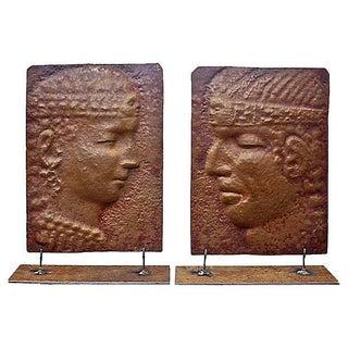 Vintage Peruvian Copper Reliefs - A Pair