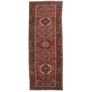 Vintage Persian Hariz Runner - 4′5″ × 12′1″