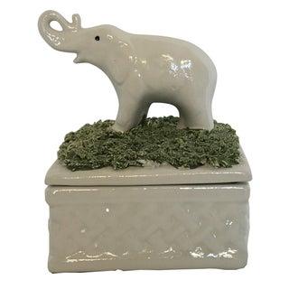 Italian Porcelain Elephant Trinket Box