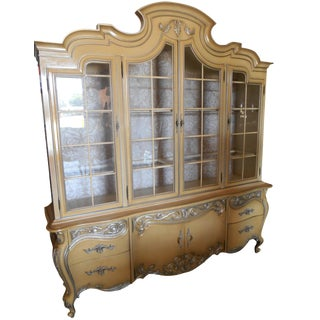 French Provincial Gilt China Cabinet