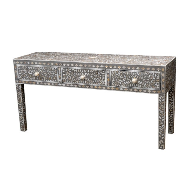 Image of Gray Mother of Pearl Inlay Console