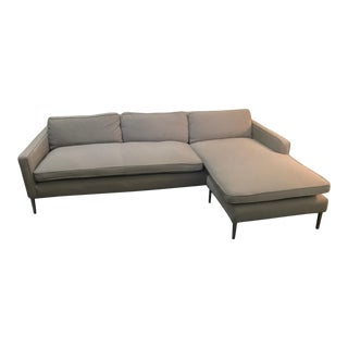 Kensington Flip Gray Chaise Sectional