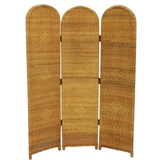 Three Panel Wicker Screen