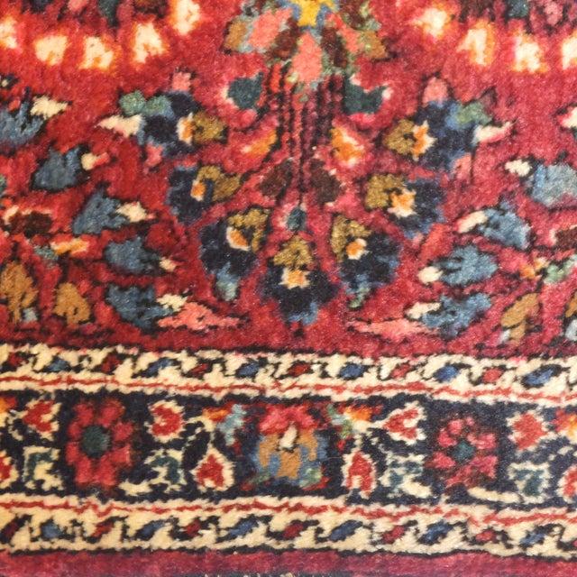 "Antique Persian Sarouk Runner Rug 4' x 2'1"" - Image 5 of 5"