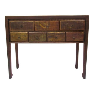 High Console Table Eco-Friendly Reclaimed Solid Wood