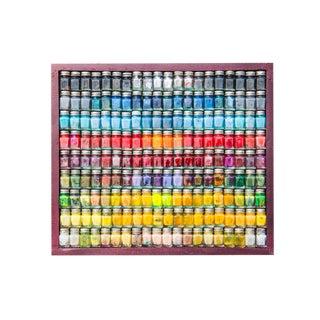 """""""Spectrum"""" Enamel Paint Bottle Framed Collage"""