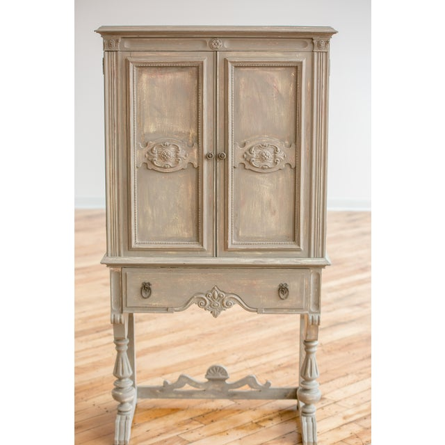 1920s Distressed Painted Armoire - Image 3 of 7