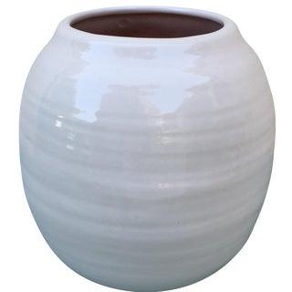 White Studio Pottery Vase or Planter