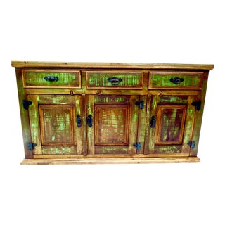 Antique Buffet Sideboard In Eco-Friendly Reclaimed Solid Wood