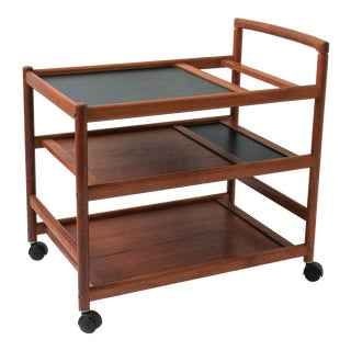 Mid-Century Danish Modern Teak Bar Cart