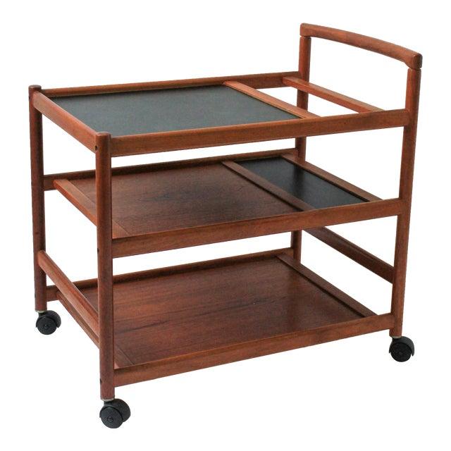 Mid Century Danish Modern Teak Bar Cart Chairish