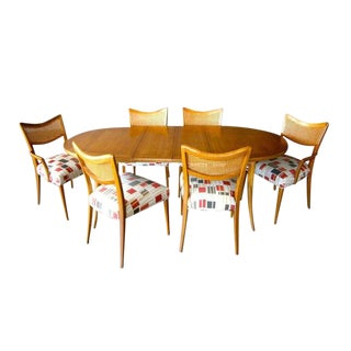 Bleached Mahogany Harvey Probber 1950's Dining Set