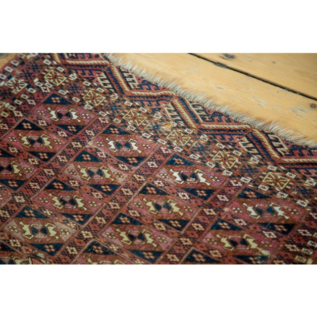 "Antique Turkmen Square Rug - 2'8"" X 3'1"" - Image 3 of 9"
