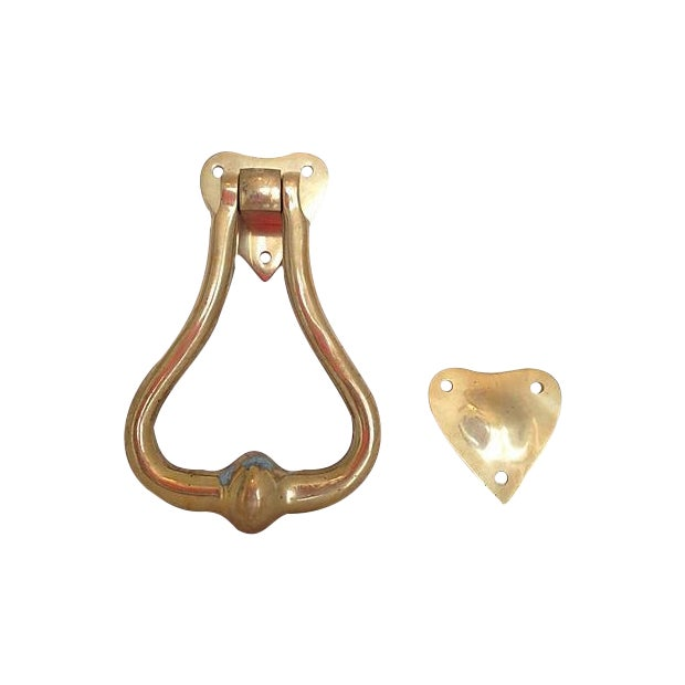Brass Heart Door Knocker - Image 1 of 4