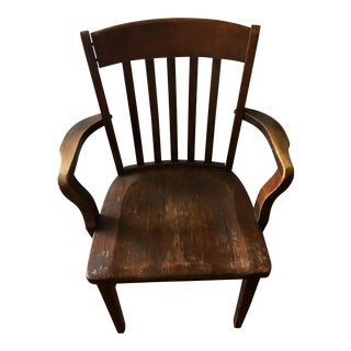 Murphy Chair Company Vintage Wooden Armchair