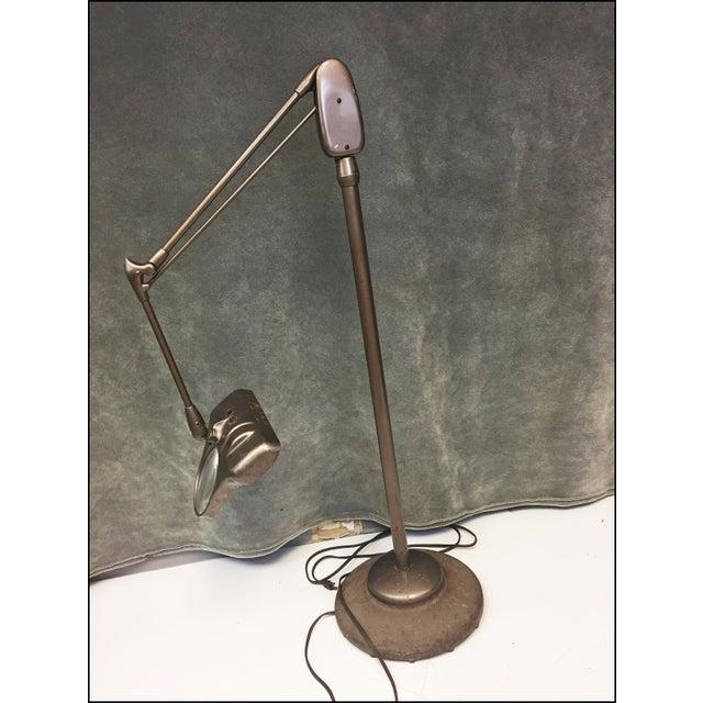 Vintage Industrial Dazor Brown Articulating Magnifying