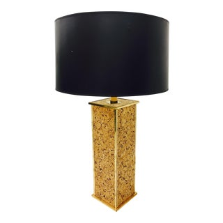 Vintage Cork & Brass Lamp