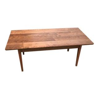 Solid Walnut Mid-Century Modern Coffee Table