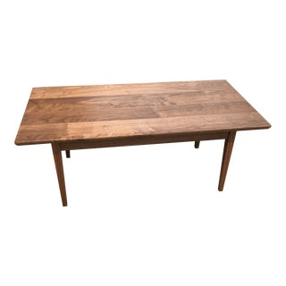 Solid Walnut Mid-Century Modern Coffee Table