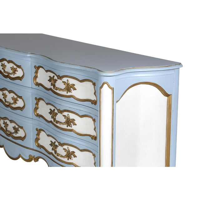 Karges French-Style Blue & White Dresser - Image 3 of 7