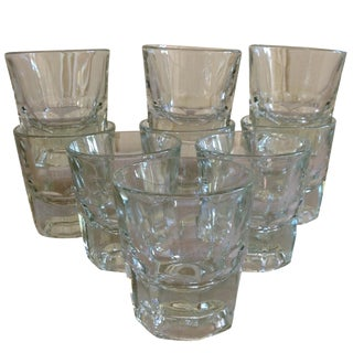 Vintage Rocks Glasses - Set of 9