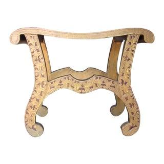 Wood Fleur Bench with Metal Overlay
