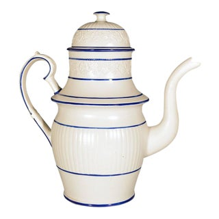 Large Castleford-Type Pottery Coffee Pot & Cover