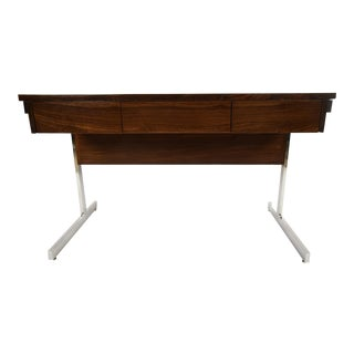 Lane Rosewood & Chrome Compartment Desk