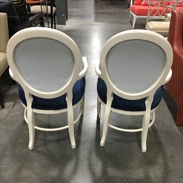 Century Frame Accent Chairs - Pair - Image 4 of 5