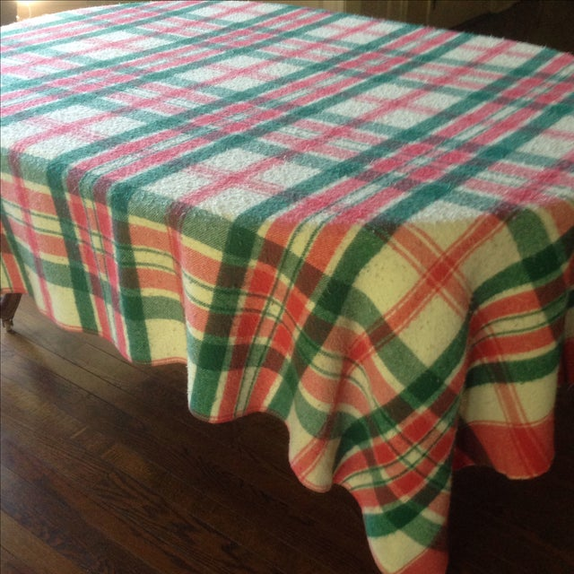 Vintage Plaid Picnic/Gameday Blanket - Image 7 of 11