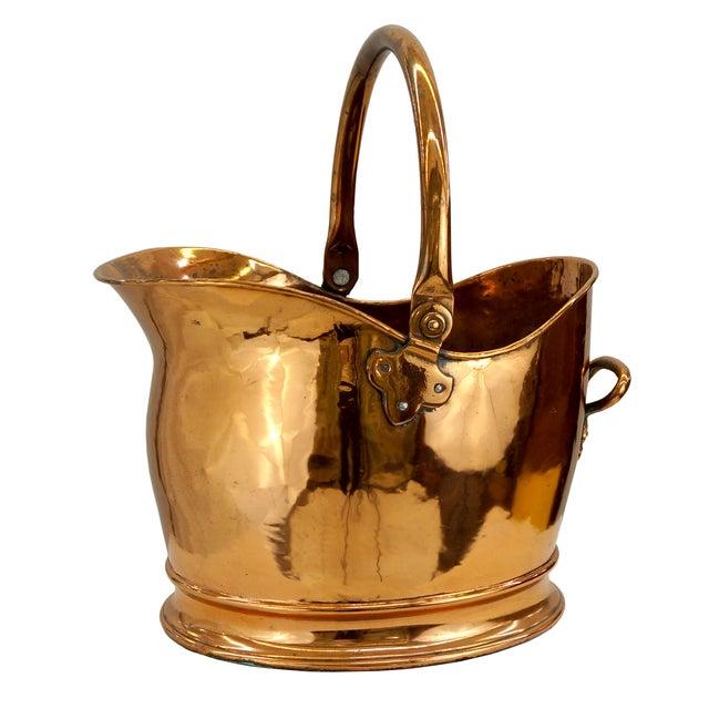 Victorian Copper Coal Scuttle Bucket - Image 1 of 5